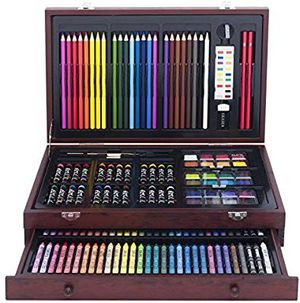 Art Supplies For Teen Kids Adults 142 piece Wood Art Set New Watercolor Crayon for Sale in Los Angeles, CA