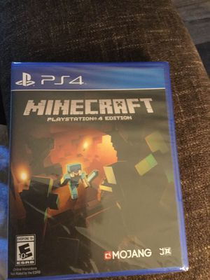 PS4Minecraft unopened game for Sale in Zanesville, OH