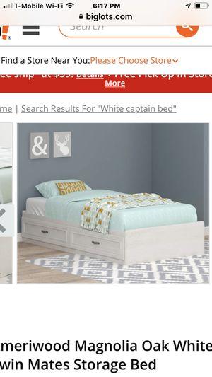 Captain bed frame white for Sale in Glendora, CA