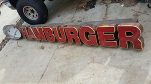 Humburguer sign for Sale in Perris, CA