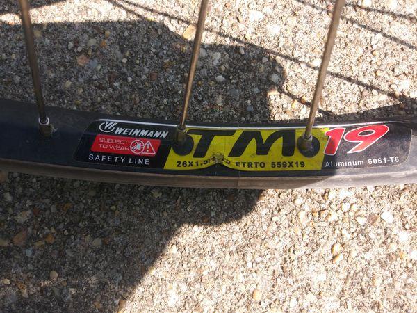 Weinmann tm19 26x1.5 rear bike rim
