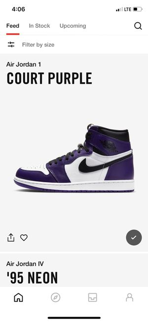 Jordan 1 Court Purple 2.0 for Sale in Richmond, VA