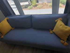 1 year old CB2 grey/charcoal couch for Sale in Los Angeles, CA