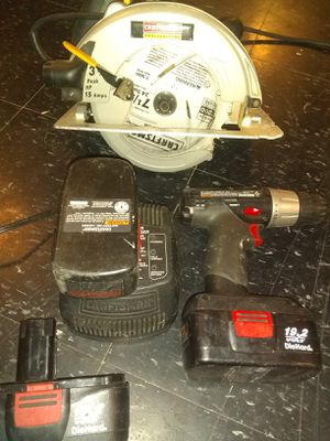 Gas chainsaw, Craftsman drill+ for Sale in Detroit, MI