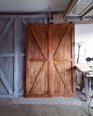 Wood barn doors for Sale in Fontana, CA
