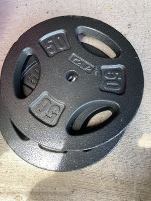 """Cap 50 lb weight plates 1"""" for Sale in Alamo, TX"""