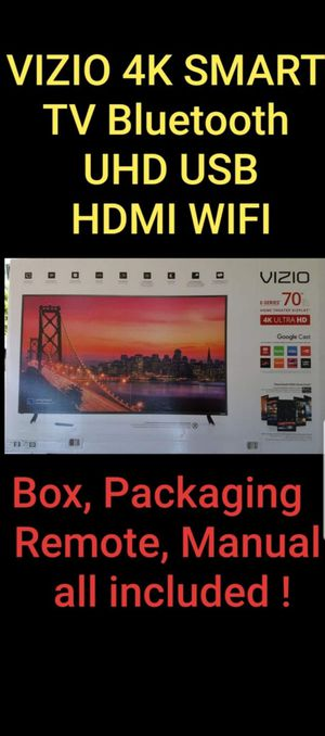 Vizio 4k Smart TV 70 inch with USB Bluetooth HDMI Wifi Apps for Sale in Vista, CA