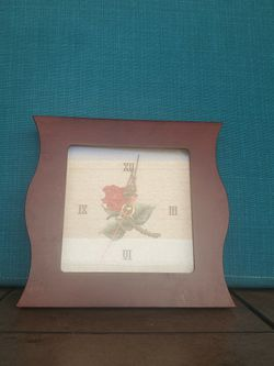 Working Embroidered Clock With Wooden Frame for Sale in Garden Grove,  CA