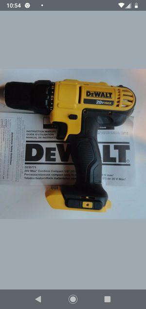 "$40DeWalt DCD771B 20V 20 Volt 1/2"" Compact Li-Ion 2 Speed Drill Driver DCD771 (sólo herramiena) for Sale in Miami, FL"