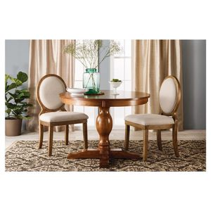 """42""""W x 30"""" H pedestal round dining table new still in box sturdy wood apartment size for Sale in La Mesa, CA"""