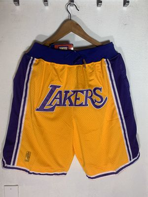 **ONLY SMALL** Lakers Shorts Just Don Los Angeles Mitchell & Ness Kobe Lebron Davis for Sale in La Puente, CA