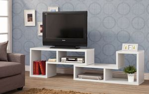 Contemporary White Finish Modular Convertible TV Stand and Bookcase for Sale in Temecula, CA