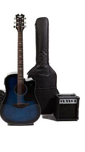 Keith Urban Acoustic Electric Guitar Electric Blue with Amplifier and Accessories! New Includes Amplifier, soft case and accessories! ARCADIA DISC for Sale in Arcadia, CA