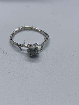 Raw diamond sterling silver ring for Sale in Salt Lake City, UT