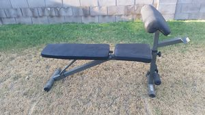 Nice adjustable weight bench with preacher curl for Sale in Phoenix, AZ