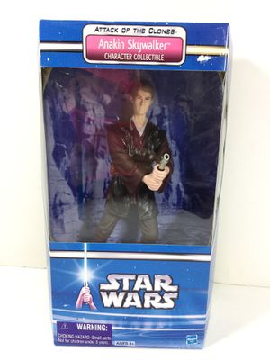 Star Wars Attack of the Clones Anakin Skywalker Figure by Hasbro 2002 for Sale in Auburn, WA