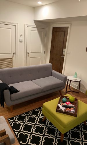 upholstered sofa and ottoman for Sale in Miami, FL