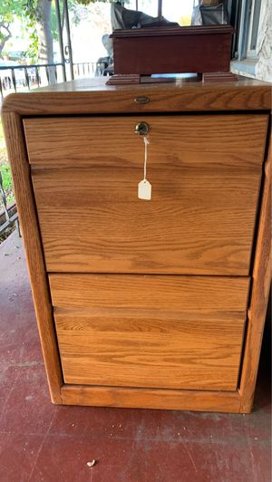 Wooden filing cabinet for Sale in Norwalk, CA