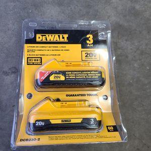 Dewalt 20v Battery 2pk for Sale in Marysville, WA