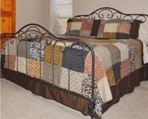 Cal King Headboard Footboard frame and metal box springs. for Sale in Clovis, CA