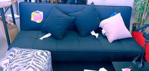 Beautiful black futon sofa memory foam by Serta $149.99 for Sale in Phoenix, AZ