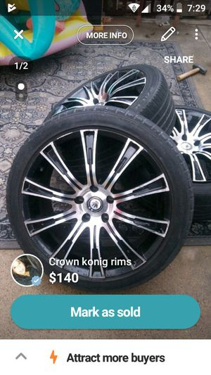 Crown knoig 18in rims for Sale in Sanger, CA
