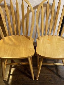 2 Oak Dining Chairs for Sale in Everett,  WA