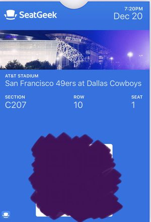 2 San Francisco 49ers at Dallas Cowboys Tickets for Sale in Riverside, CA