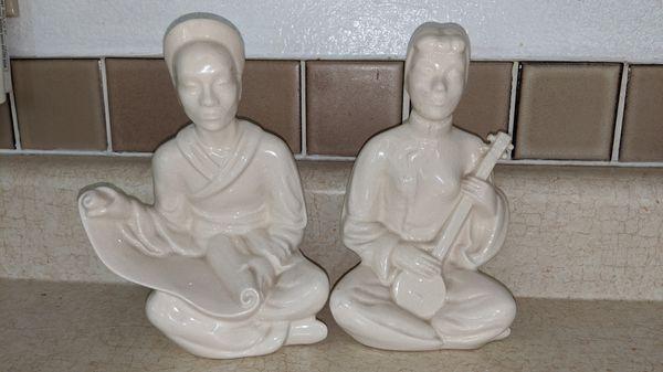 White Antique Asian Figurines
