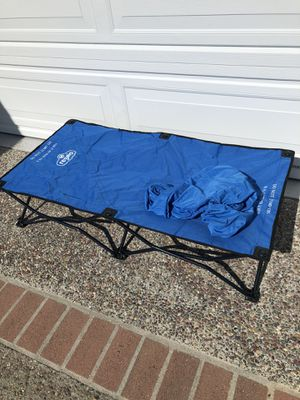 Folding cot for kid with carrying bag and bedsheet for Sale in Burlingame, CA