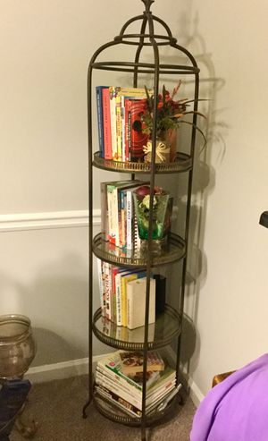 Outrageous Interiors Design sturdy round mirrored shelf stands for Sale in Sandy Springs, GA