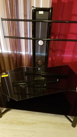 3 TIERED TV STAND, DARK GLASS for Sale in Peoria, AZ