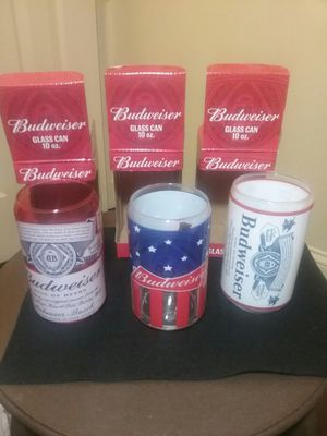 Three Budweiser 10oz. Glasses for Sale in Stevensville, MD