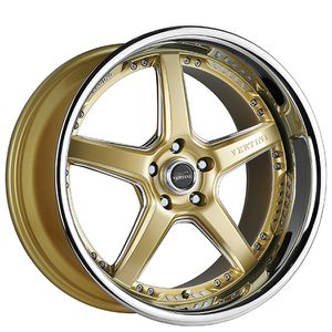 "20"" Staggered Vertini Drift Gold with Chrome Lip Rims for Sale in Baldwin Park, CA"