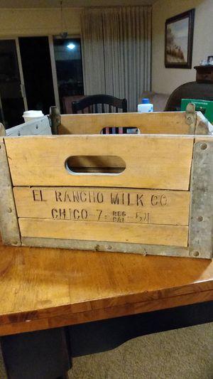 Antique milk crate wood for Sale in San Lorenzo, CA