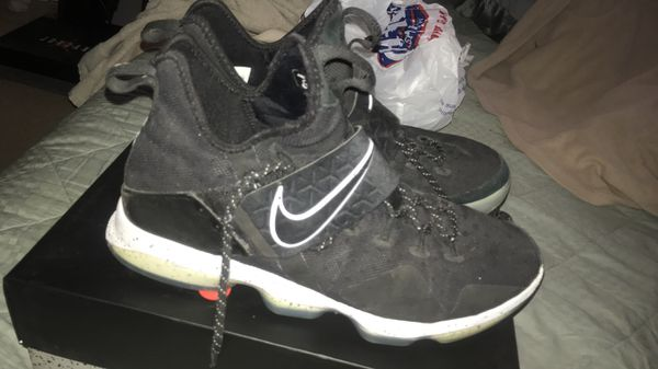 42 Nike LeBron 14 XIV Black Ice White MVP Ghost Bhm Soldier Shoes 852405 002. SIZE 11.5