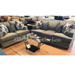 Gray Sofa And Love Seat- (Lifetime Warranty Cushions) for Sale in National City,  CA