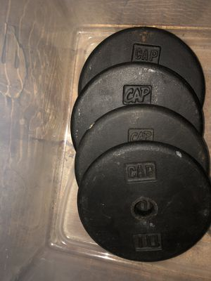 2 10lbs plate sets for Sale in Kernersville, NC