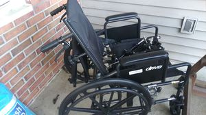 Ocean home health reclining wheelchair with elevated and regular leg rests for Sale in Hamilton Township, NJ