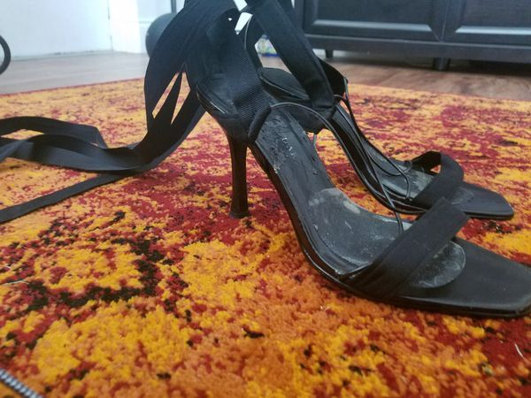 7abe846555 3 inch black lace up heels for Sale in Fort Lauderdale, FL - OfferUp