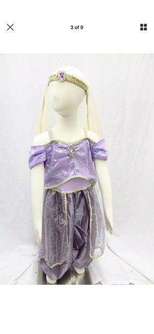 Aladdin Arabian Princess Belly Dancer Jasmine Dress Up Costume Outfit Sz 4t for Sale in Bonita, CA