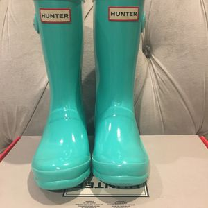 Little Girls Hunter Rain Boots Size 1 for Sale in Manteca, CA