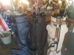 (3)Golf Bags W/ Assortment of Golf Clubs for Sale in Phoenix, AZ