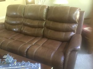 Ashley Furniture Electric Dual recliner leather couch for Sale in Sacramento, CA
