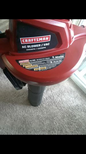 Electraic Craftsman vac and blower s for Sale in Rockville, MD