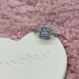 Square Sparkle Halo Pandora Ring Size 54EU/7US for Sale in Waukegan, IL