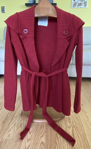 Anthropologie Sparrow Red Wool Coat Jacket Waist Tie Women's Size Small for Sale in Hollywood, FL