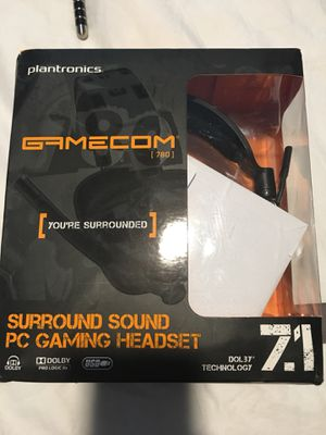Gamecom 780 surround sound pc gaming headset USB for Sale in Edgewater, NJ