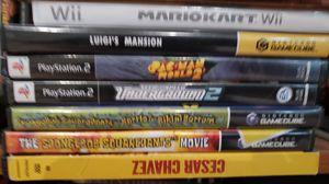 Game cube Luigi's mansion, spongebob , mariokart and a few other games for Sale in Splendora, TX