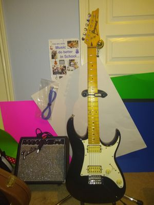 RX 20 Ibanez HH✓ maple neck✓tremalo✓5-way ✓set-up✓new strings✓EXC*   Amp it up? for Sale in Spring, TX